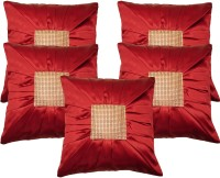 Home Shine Geometric Cushions Cover(Pack of 5, 40 cm*40 cm, Red)