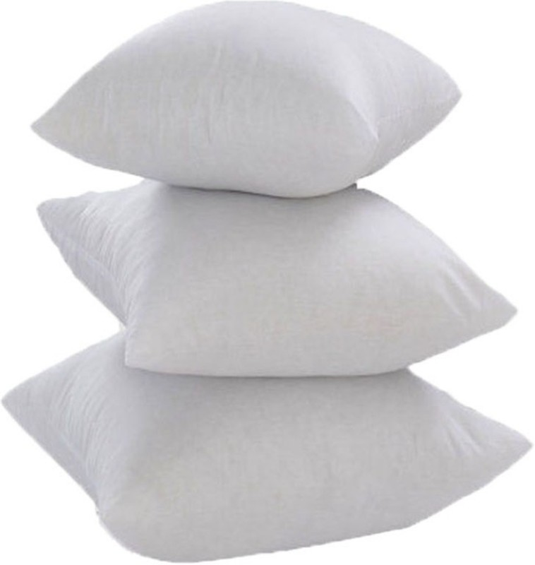 JDX Plain Back Cushion Pack of 3(White)
