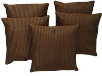 Home Shine Striped Cushions Cover(Pack of 5, 40 cm*40 cm, Brown)