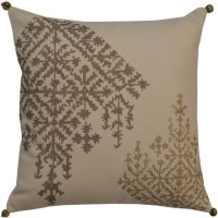 YAMINI Embroidered Cushions Cover(30 cm*30 cm, Beige)