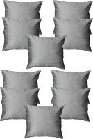Home Shine Plain Cushions Cover(30 cm*30 cm, Silver)