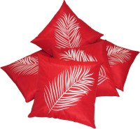 Zikrak Exim Embroidered Cushions Cover(Pack of 5, 40 cm*40 cm, Red)