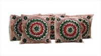 Craft Infinis Embroidered Cushions Cover(Pack of 5, 40 cm*40 cm, Multicolor)