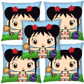 Magical Knots Cartoon Cushions Cover(Pack of 5, 40 cm*40 cm, Multicolor)