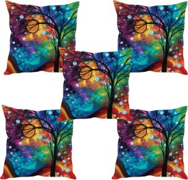 Sleepnature's Abstract Cushions Cover(Pack of 5, 40.63 cm*40.63 cm, Multicolor)