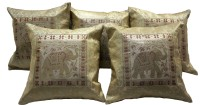 ABLAZE (INDIA) Embroidered Cushions Cover(Pack of 5, 40.64 cm*40.64 cm, Gold) best price on Flipkart @ Rs. 780