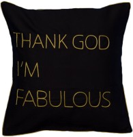 Bandbox Embroidered Cushions Cover(40.64 cm*40.64 cm, Black)