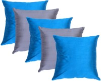 Home Kouture Plain Cushions Cover(Pack of 5, 40 cm, Blue, Silver)