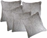 Belive-Me Plain Cushions Cover(Pack of 5, 40 cm*40 cm, Grey)