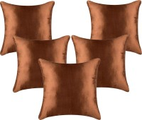 Belive-Me Plain Cushions Cover(Pack of 5, 40 cm*40 cm, Brown)