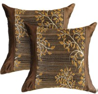 Zaffre's Floral Cushions Cover(Pack of 2, 40 cm*40 cm, Brown)