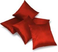 A.P Handloom Plain Cushions Cover(Pack of 5, 40.64 cm, Maroon)