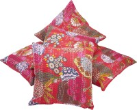 Priva Abstract Cushions Cover(Pack of 5, 40 cm*40 cm, Red)
