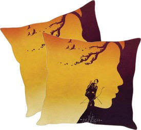 Sleepnature's Printed Cushions Cover(Pack of 2, 30.63 cm*30.63 cm, Multicolor)