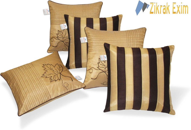 Zikrak Exim Embroidered Cushions Cover(Pack of 5, 40 cm*40 cm,...