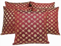 Dekor World Geometric Cushions Cover(Pack of 5, 40.6 cm*40.6 cm, Maroon)