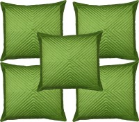 Home Shine Geometric Cushions Cover(Pack of 5, 40 cm*40 cm, Light Green)