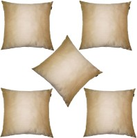 Lushomes Plain Cushions Cover(Pack of 5, 40 cm*40 cm, Beige)