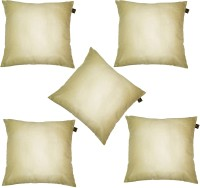 Lushomes Plain Cushions Cover(Pack of 5, 30 cm*30 cm, Beige)
