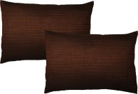 Home Shine Striped Pillows Cover(Pack of 2, 45 cm*95 cm, Brown)