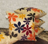 Zikrak Exim Floral Cushions Cover(Pack of 5, 40 cm*40 cm, Multicolor)