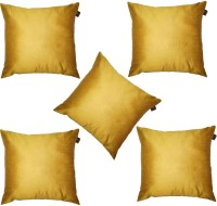 Lushomes Plain Cushions Cover(Pack of 5, 40 cm*40 cm, Gold)