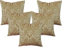 Belive-Me Self Design Cushions Cover(Pack of 5, 40 cm*40 cm, Beige)