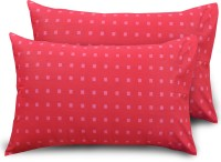 Ahmedabad Cotton Checkered Pillows Cover(Pack of 2, 45 cm*69 cm, Red)
