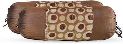 Zaffre,s Polka Bolsters Cover(Pack of 4, 38 cm*76 cm, Brown)