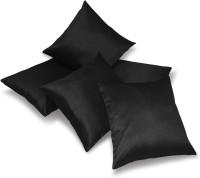 Zikrak Exim Plain Cushions Cover(Pack of 5, 40 cm*40 cm, Black)