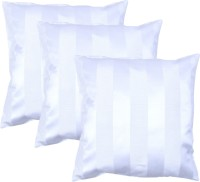 MABA Striped Cushions & Bolsters Cover(Pack of 3, 40 cm*40 cm, White)