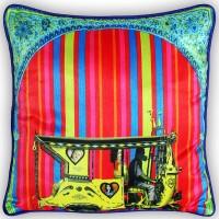 Fatfatiya Floral Cushions Cover(40 cm*40 cm, Multicolor)