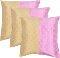 MABA Polka Cushions & Bolsters Cover(Pack of 3, 40 cm*40 cm, Multicolor)