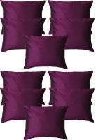 Home Shine Plain Cushions Cover(30 cm*30 cm, Purple)