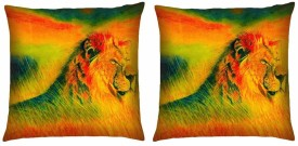 Magical Knots Abstract Cushions Cover(Pack of 2, 40 cm*40 cm, Multicolor)