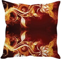 StyBuzz Abstract Cushions Cover(40 cm*40 cm, Brown, Yellow)