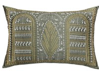 13 Odds Embroidered Cushions Cover(45.7 cm*30.5 cm, Green)