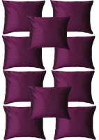 Home Shine Plain Cushions Cover(40 cm*40 cm, Purple)