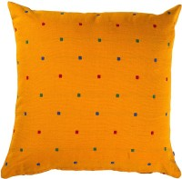Purple Threads Geometric Cushions Cover(Pack of 2, 40 cm*40 cm, Yellow)