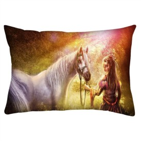 Snoogg Printed Cushions Cover(35.56 cm*55.88 cm, Multicolor)