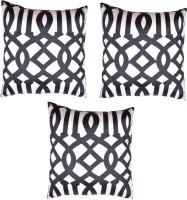 HOMEWARDS Geometric Cushions Cover(Pack of 3, 40 cm*40 cm, Black)