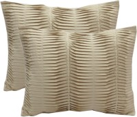 Milano Home Embroidered Cushions Cover(Pack of 2, 31 cm*41 cm, Beige)