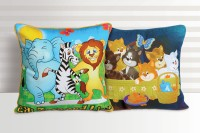 Swayam Printed Cushions Cover(Pack of 2, 30 cm*30 cm, Multicolor)
