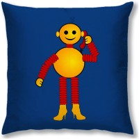 Right Cartoon Cushions Cover(40 cm*40 cm, Multicolor)