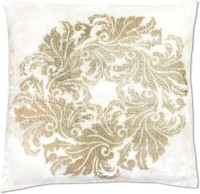 Rajat Synergy Printed Cushions Cover(40 cm, White, Gold)