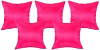 Sahiba Home Accents Plain Cushions Cover(Pack of 5, 30 cm*30 cm, Pink)