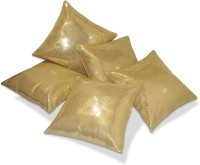 Zikrak Exim Damask Cushions Cover(Pack of 5, 40 cm*40 cm, Gold)