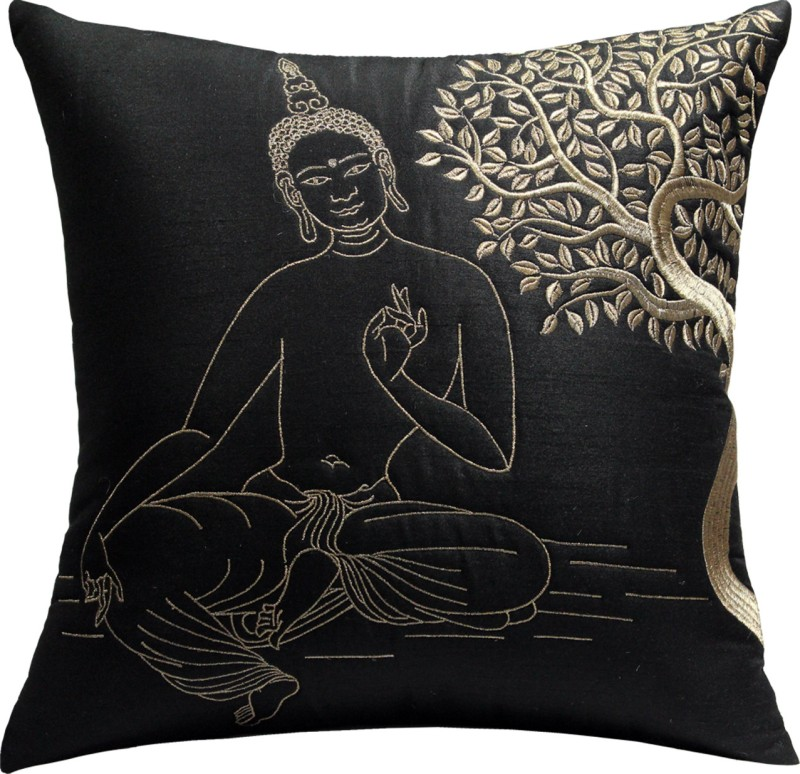 13 Odds Embroidered Cushions Cover(40 cm*40 cm, Black)