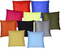 MSenterprises Striped Cushions Cover(Pack of 10, 40 cm*40 cm, Multicolor)