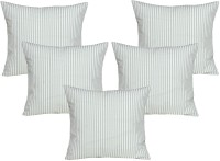 Curl Up Striped Cushions Cover(Pack of 5, 40 cm*40 cm, White, Grey)